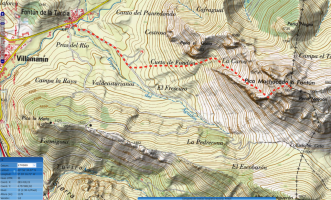 Mapa Fontún