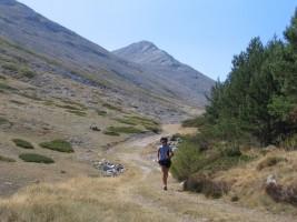 En la Vallejona con el Pico del Fraile al fondo