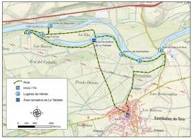 Mapa Ruta Vegas y riberas del Tera en el norte de Zamora