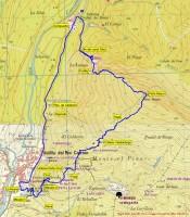 Mapa Ruta Peña Mayor por Velilla